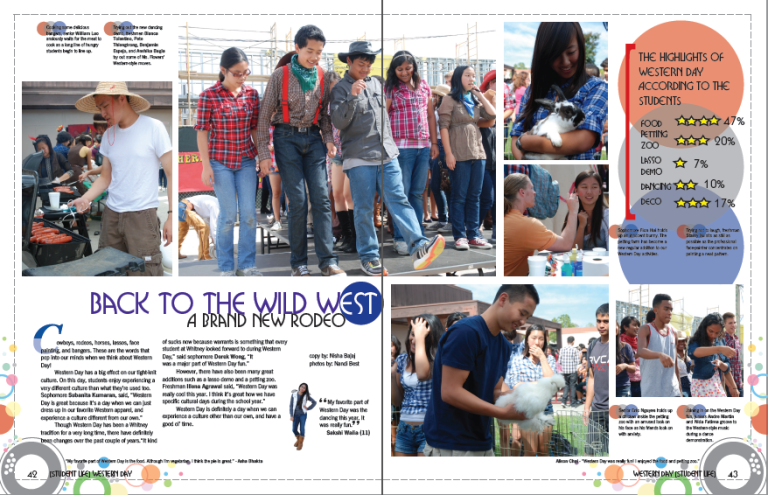 Layout design for the Whitney High School yearbook