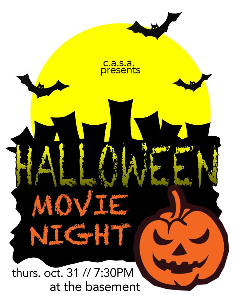 Halloween Movie Night Flyer